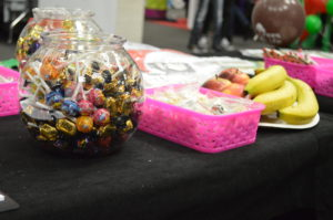 Close up of sweets and fruit