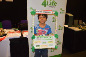 Young boy who is an eco warrior